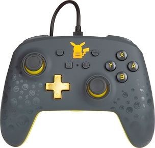PowerA - Enhanced Pikachu Grey Wired Controller for Nintendo Switch