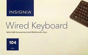 Insignia - USB Wired Keyboard